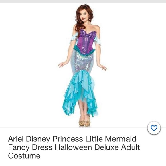 Disney Deluxe Leg Avenue Ariel Costume NWT